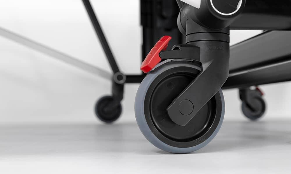 Rad und Bremse vom Pingpongtisch SDL Sponeta